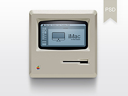 拟物写实图标老版苹果电脑icon PSD