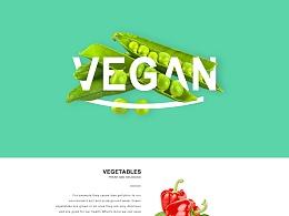 UI设计 网页界面设计 蔬菜网页 水果网页 简约 简洁 美食 食物 企业官网