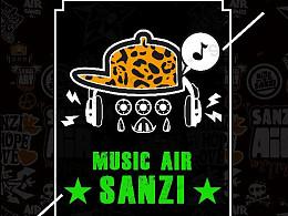 空气音乐SANZI  音乐元素设计