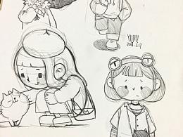 插画设计:铅笔画