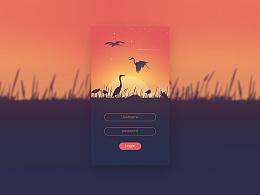 木鼠UI设计课堂作业——自然风光界面
