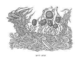 《端午节奥利奥的插画》