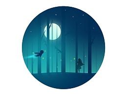 星月夜小插画