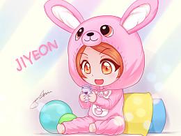 【朴智妍】粉红兔子!