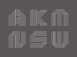 平行线体英文字体