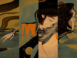 绘画过程—陈粒《大梦》