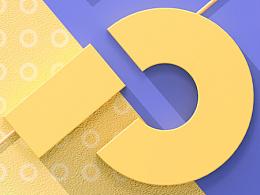 26个英文字母设计 - C4D作品