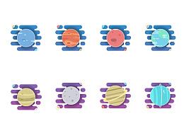 AI制作行星小插画