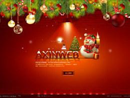 圣诞节{阿新个}人网站引导页(psd可下载)