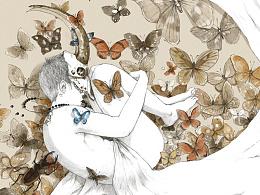 你的每一个瞬间,其实都可能是在梦里——选自个人画集《眠》
