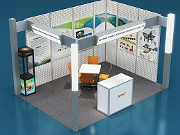 出国展会标滩平面展开设计  效果图展示
