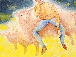 我数了很多绵羊和星星