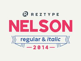 西文字体设计 Nelson Regular & Italic