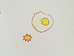 彩铅记录—《煎蛋》