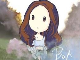 初次板绘- -BoA酱新单message封面