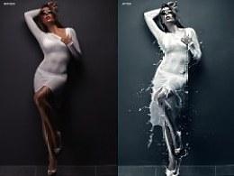 p图练习-牛奶喷溅海报