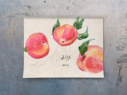 水粉水蜜桃