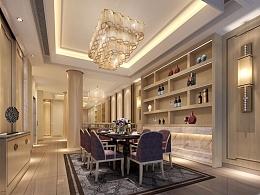 尺度非凡尊贵大宅 北京中海九号公馆别墅室内设计