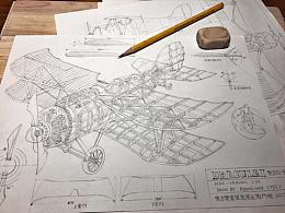 """""""德古拉一世""""Dracula l""""双翼战斗机—设计图"""