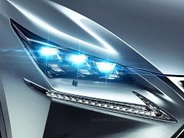 Lexus NX200t F-sport CGI汽车摄影