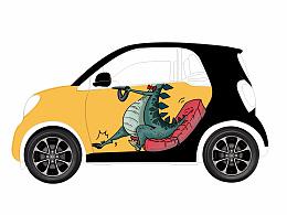 smart 车贴