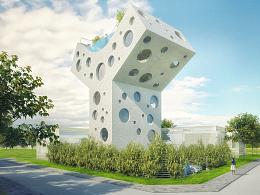 'Y形别墅':一座远离城市喧嚣,配备屋顶泳池的私家住宅