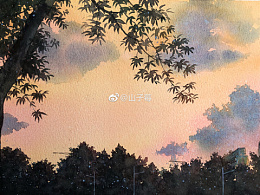 水彩风景 手绘