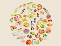 尝鲜 好时节 二十四节气美食月历设计