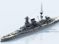 """""""巴勒姆""""号战列舰,英国皇家海军""""伊丽莎白女王""""级。"""