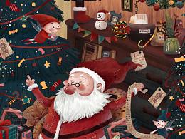 儿童插画.圣诞HAPPY~
