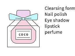 一组化妆品图标