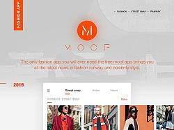 MOOF Fashion App Design