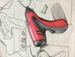 原创作品:产品设计手绘手稿-马克笔表达图片