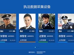 警用设备终端——执法数据采集设备UI界面