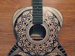 手绘 吉他