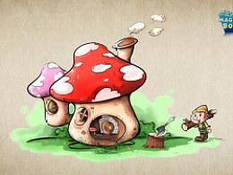 蘑菇房子与屠龙兔~