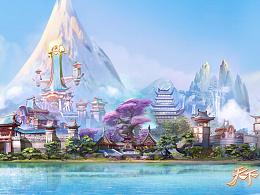 网易游戏《天下》手游,H5宣传全景图