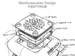 车载空气净化器结构草图