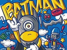 BATMAN-矢量插画