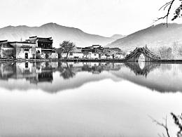 手机拍美景-山水画里的宏村