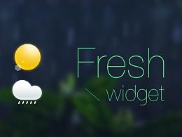 天气widget