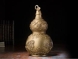 铜师傅 全铜摆件 《吉祥葫芦(26厘米)》 家居工艺品 装饰品