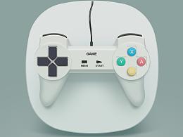 一款游戏机的写实图标创作,看到大神的游戏机图片,决定自己来试试看。