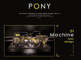 C4D金属字体【pony】