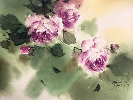 最近的几幅花卉作品