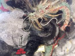【岩彩】纸上壁画《秋日三曲》