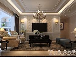 康桥悦岛135平三室两厅简欧风格装修效果图