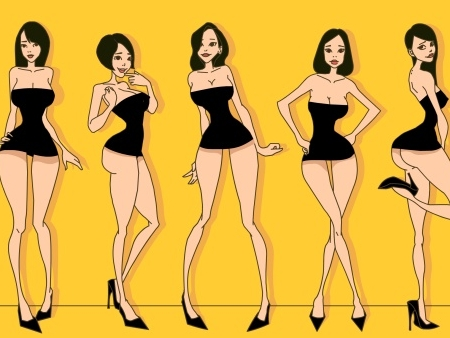 15女性人体捰体_女性夸张人体