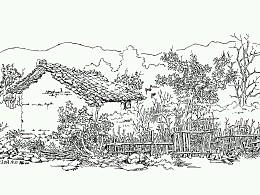 皖南印象~屏山写生作品集~这是我近几年在黟县屏山的钢笔速写写生作品~