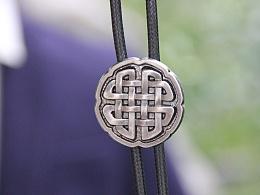 金属中国结波洛领带 衬衣Bolo 绳领带